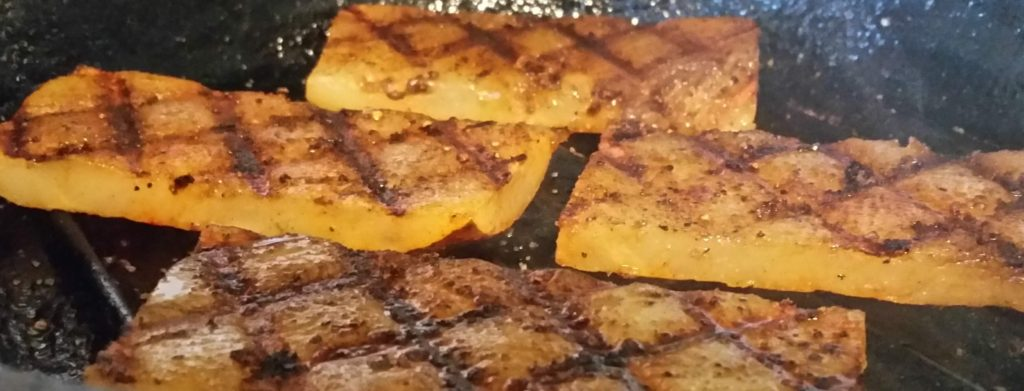 Sous Vide Broiled Potato Grill Marks