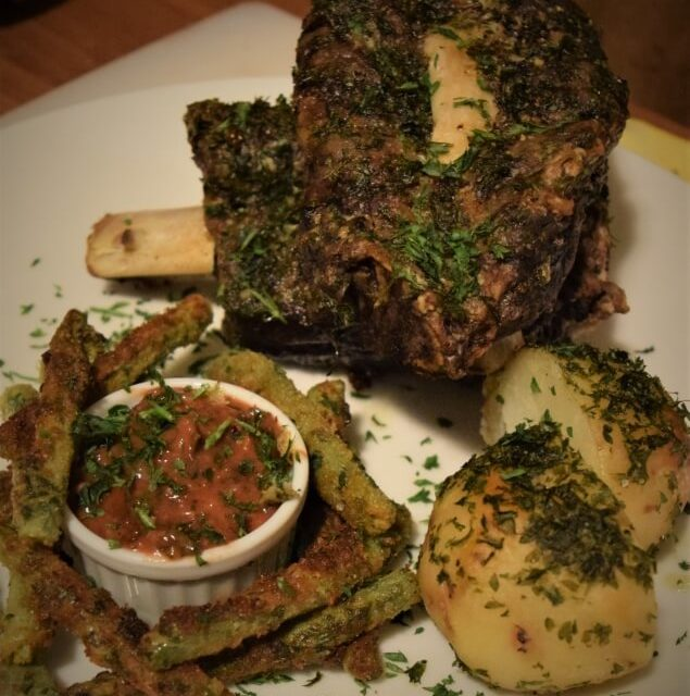 Crusty Sous Vide Beef Ribs, Yes, Parsley