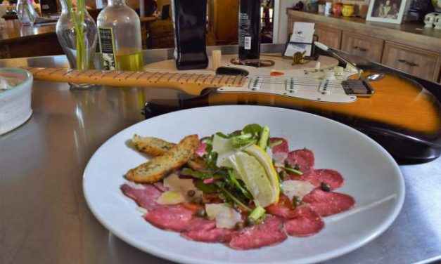 Sous Vide Pasteurized Carpaccio with Dry Aged Beef Rib Eye