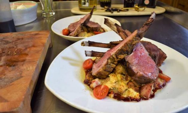 Sous Vide Rack of Lamb, Dijonnaise Crust, persillé