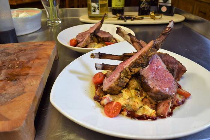 Sous Vide Rack of Lamb, Dijonnaise Crust