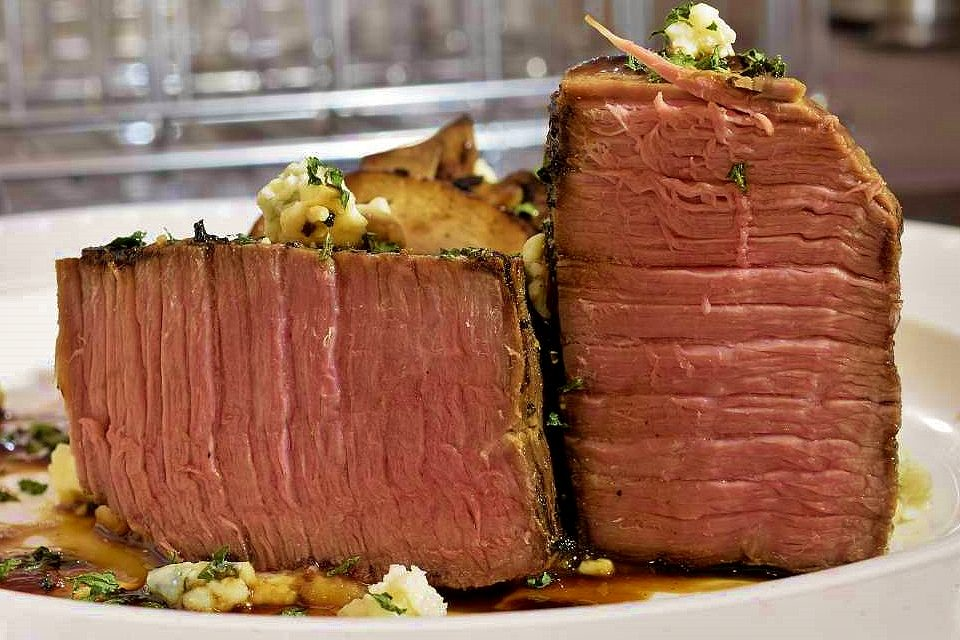 Sous Vide: Beef Top Round served as a steak