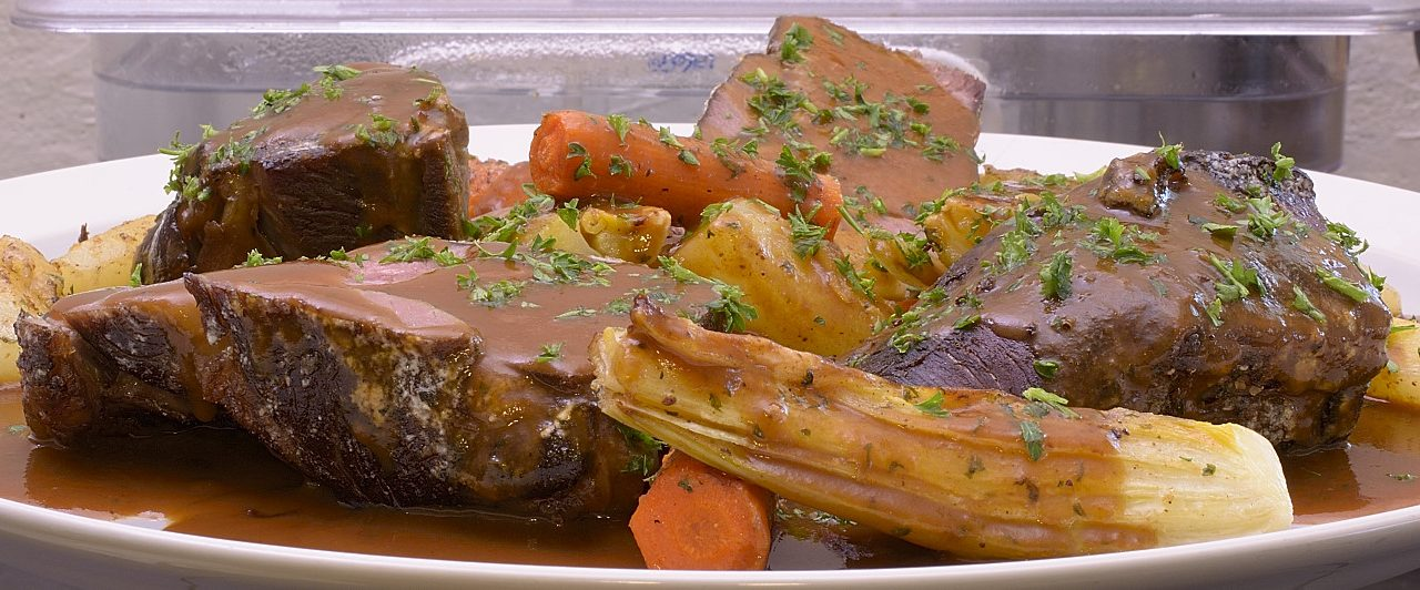 Sous Vide: Beef Chuck Roast with Pan Roasted Vegetables