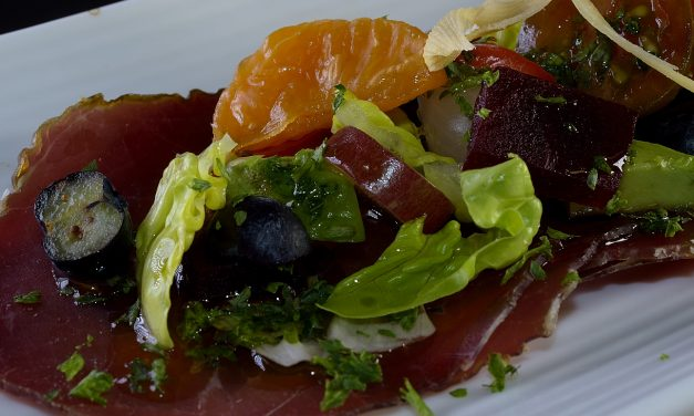 Bresaola: cured, air dried beef eye of round