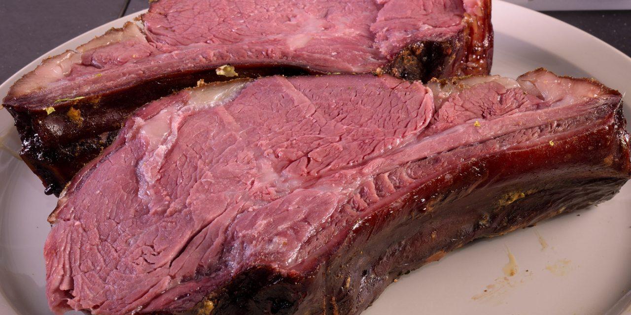 Dry Aged Beef Rib Eye, Part 3–Smoked Prime Rib