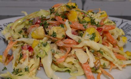 Coleslaw with Roasted Sous Vide Corn
